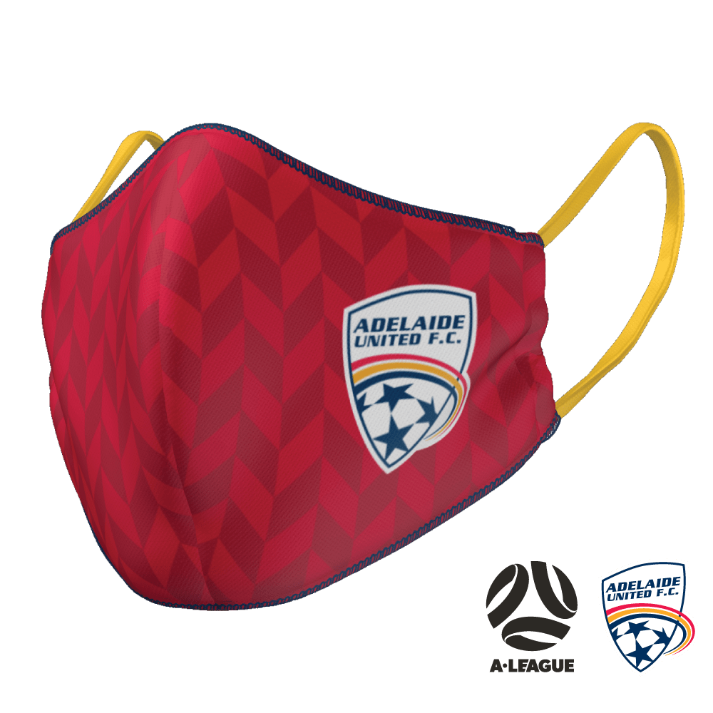 Adelaide United Face Mask - The Mask Life.