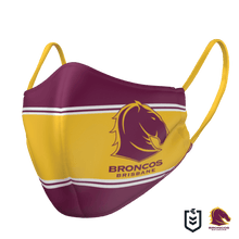Load image into Gallery viewer, Brisbane Broncos Face Mask - The Mask Life.