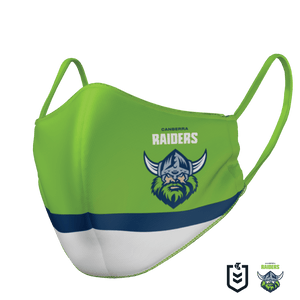 Canberra Raiders Face Mask - The Mask Life.  Face Masks