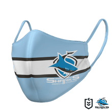 Load image into Gallery viewer, Cronulla Sharks Face Mask - The Mask Life. Face Masks