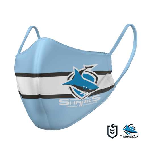 Cronulla Sharks Face Mask - The Mask Life.  Face Masks
