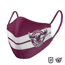 Load image into Gallery viewer, Manly Sea Eagles Face Mask - The Mask Life.  Face Masks