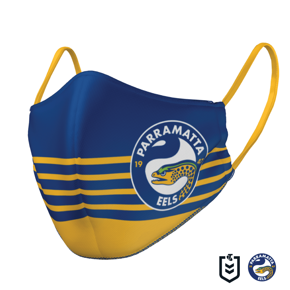 Parramatta Eels Face Mask - The Mask Life. Face Masks