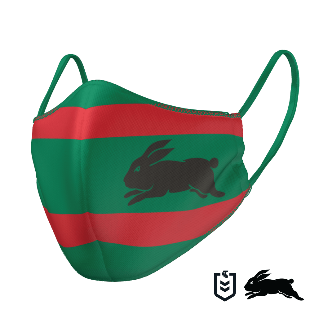 South Sydney Rabbitohs Face Mask - The Mask Life.  Face Masks