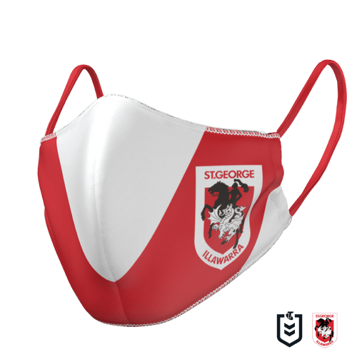 St George Illawarra Dragons Face Mask - The Mask Life.  Face Masks