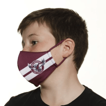 Load image into Gallery viewer, Manly Sea Eagles Face Mask - The Mask Life.