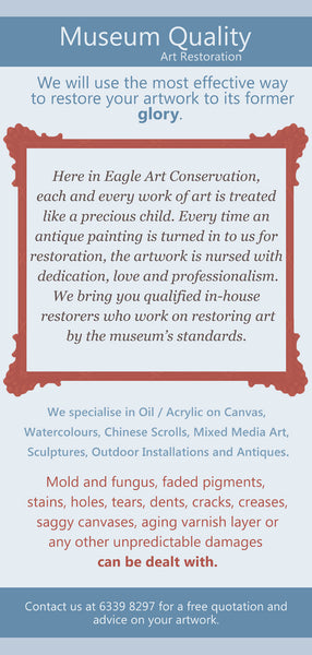 Singapore Art Conservation and Restoration  Specialising in