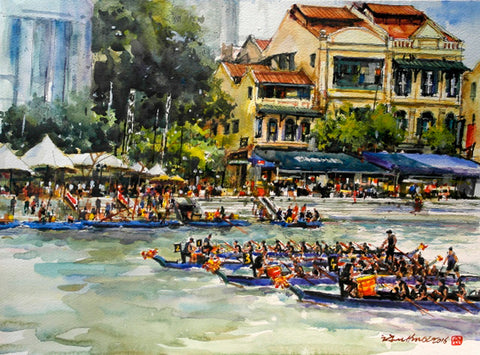 Dragon Boat Race at the Singapore River
