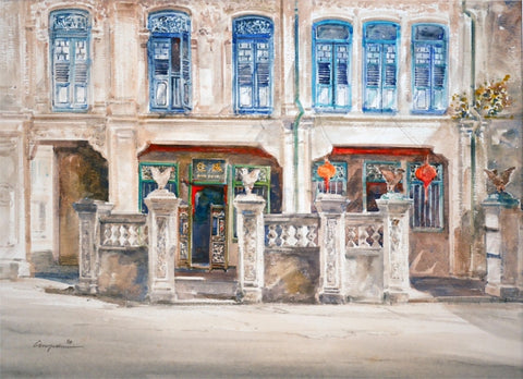 Peranakan Houses 1990 - (With blue windows) (97.127)