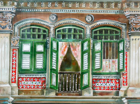 The Peranakan Windows (With green windows) (1999.038)