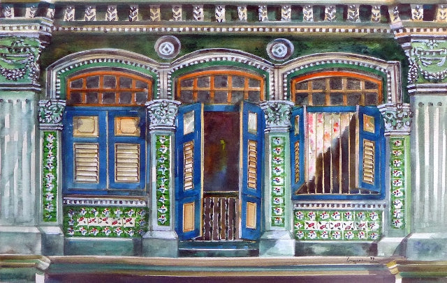 The Peranakan Windows (With blue windows) (2008.378)
