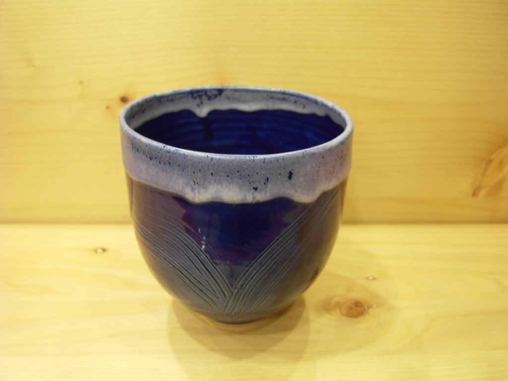 Blue Moon - Cobalt Blue Vase with Fern