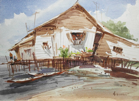 Nostalgic Seascape of Singapore - Beautiful Stilted Homes in the 50s (II)