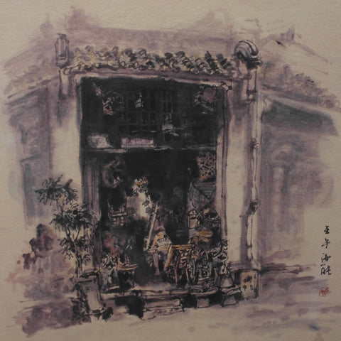 Limited Edition of Old Singapore Street Scene (YN1525C)