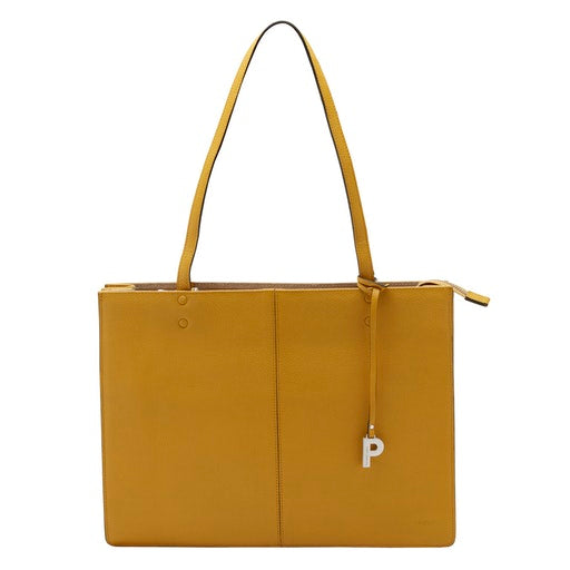 PARISIENNE SAFRAN cow leather shopping bag