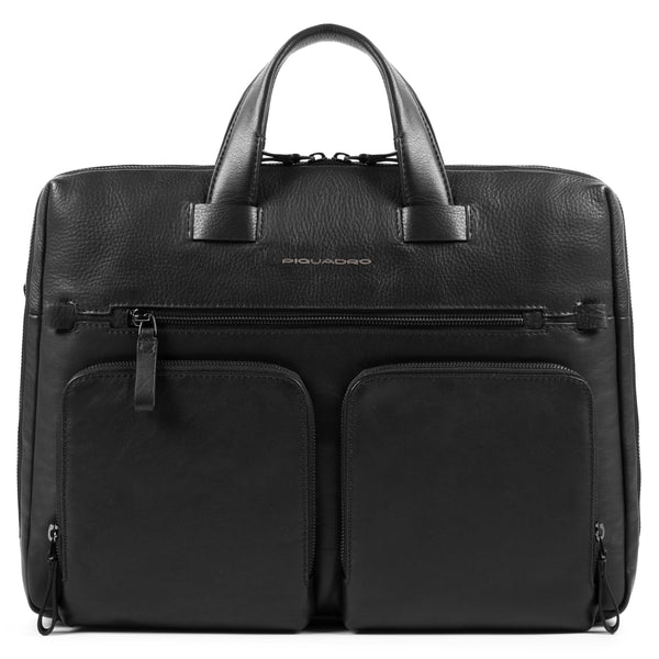 "Computer portfolio briefcase with two front pockets and iPad®10,5''/9,7"" compartment"