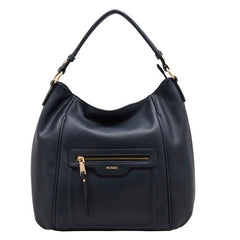 Synthetic handbag BE NICE NAVY
