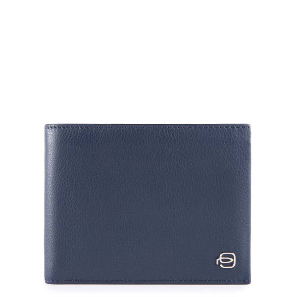 Men's wallet with document holder, coin pocket and credit card slots