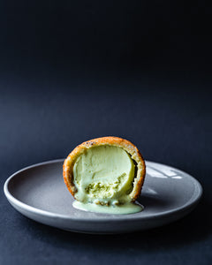 Pandan coconut deep fried ice cream