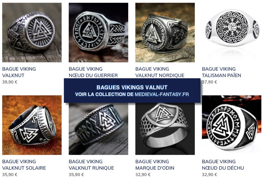 Collection Bagues Valknut