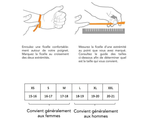 Guide taille bracelet