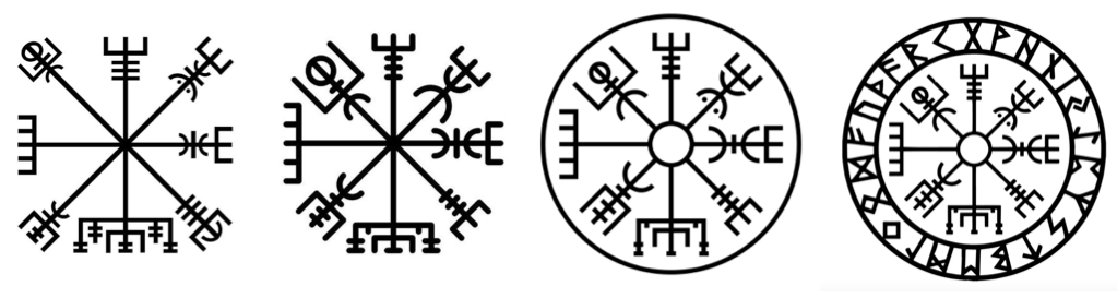 Illustration Vegvisir Variantes