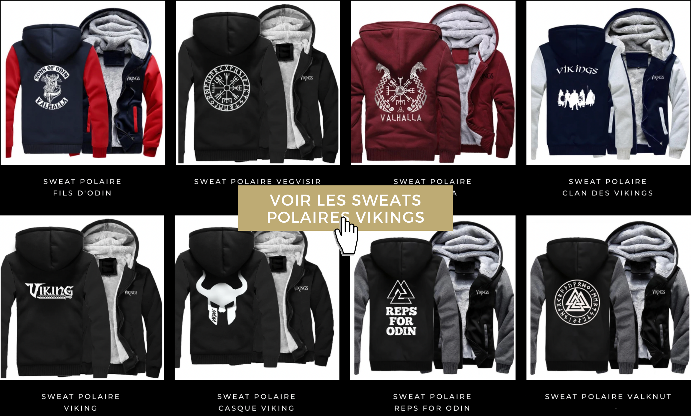 COLLECTION SWEATS VIKING POLAIRES