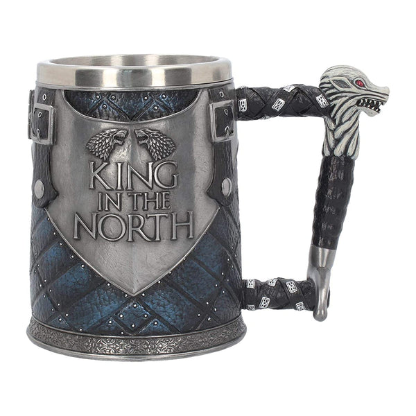 MUG KING OF THE NORTH EN ACIER INOXYDABLE - Medieval Fantasy