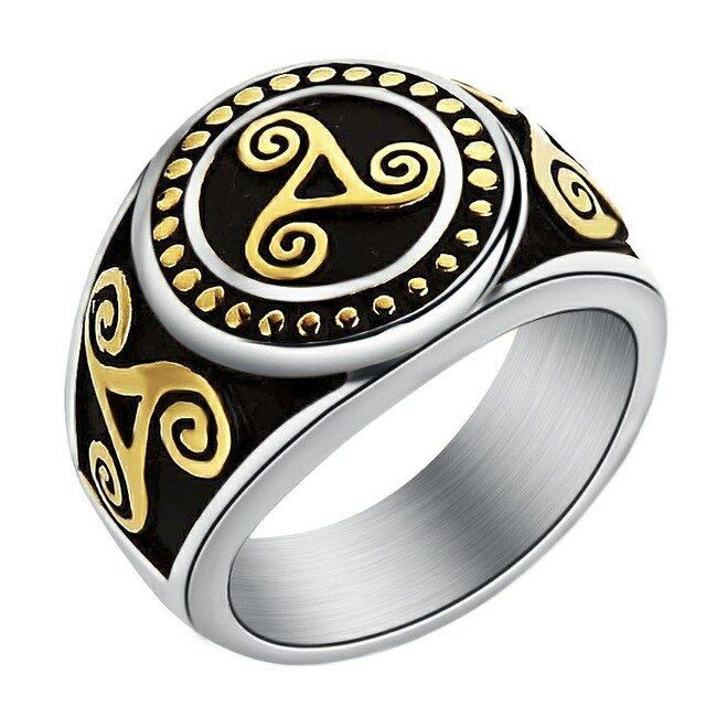 BAGUE CELTIQUE <br> TRISKEL - Medieval Fantasy