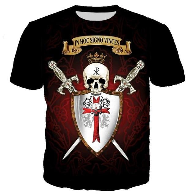 T-SHIRT IN HOC SIGNO VINCES - Medieval Fantasy
