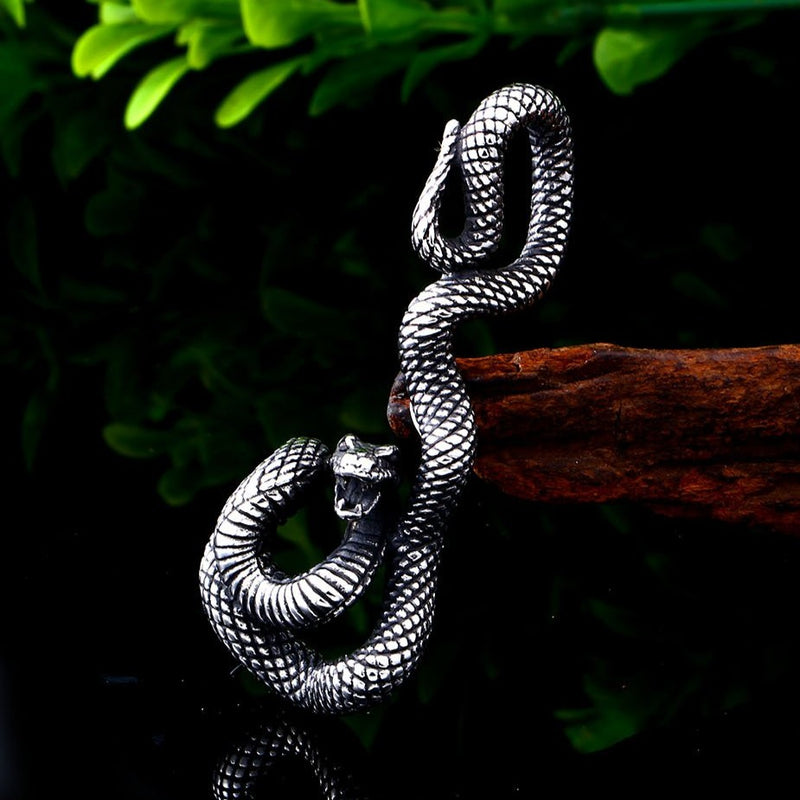 COLLIER VIKING <br> SERPENT FAIT MAIN - Medieval Fantasy