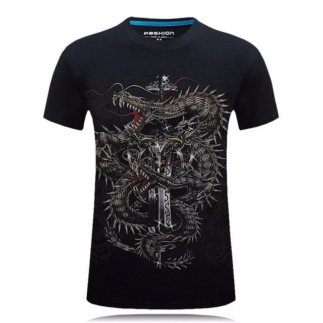T-SHIRT DRAGON DOUBLE - Medieval Fantasy