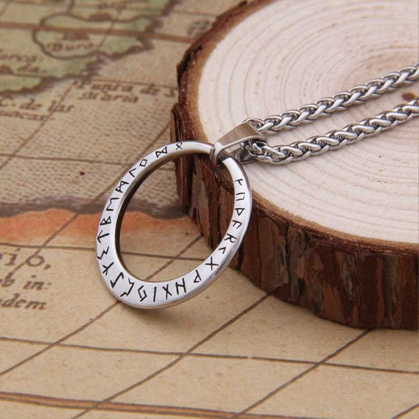 COLLIER VIKING RUNES EN ACIER INOXYDABLE - Medieval Fantasy