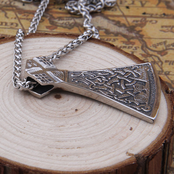 COLLIER VIKING HACHE EN ACIER INOXYDABLE - Medieval Fantasy