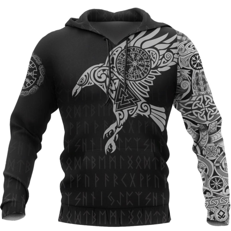 SWEAT VIKING <br> CORBEAU MESSAGER - Medieval Fantasy