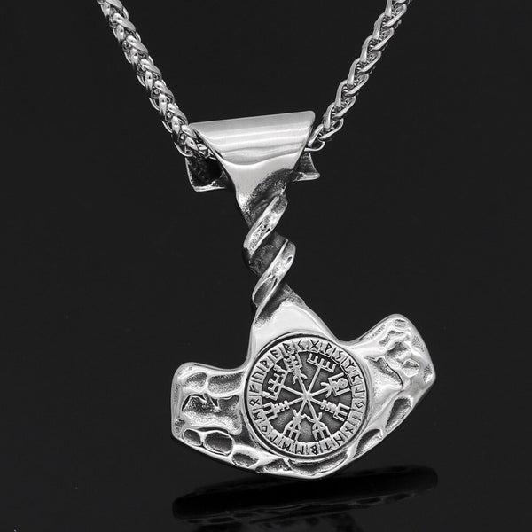 COLLIER VIKING <br> FORCE DU MJÖLNIR FAIT MAIN - Medieval Fantasy