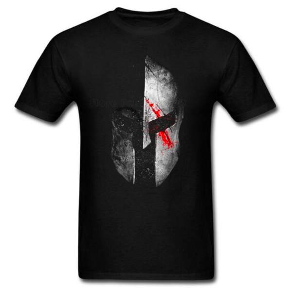 T-SHIRT CASQUE SPARTIATE ARGENT - Medieval Fantasy