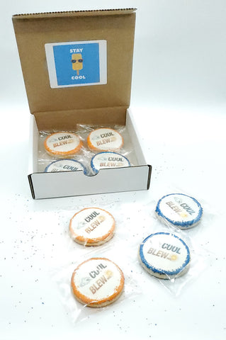 Logo cookies - branded client appreciation gift - Silver Rose Bakery