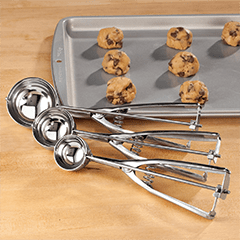 ice cream scoops for fresh baked cookies