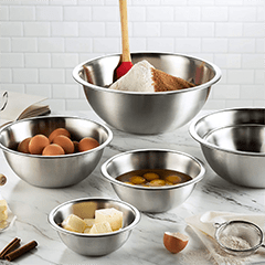 stainless steel mixing bowls for Phoenix bakery