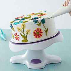 Turntable or lazy Suzan for custom cake decorator baker in Phoenix