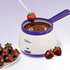 chocolate melting pot for chocolate dipped mini desserts