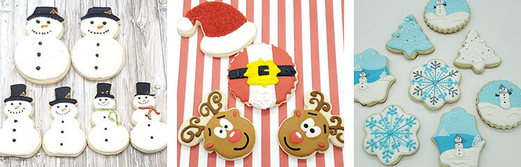 Christmas holiday custom sugar cookies