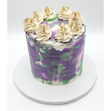 Load image into Gallery viewer, 6 Inch Purple and Green Tōn'd Cake