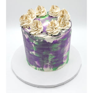 6 Inch Purple and Green Tōn'd Cake