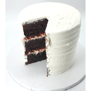 sliced white cake 6 inch