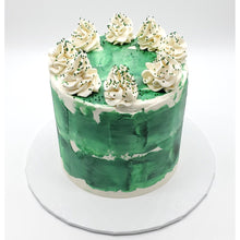 Load image into Gallery viewer, 6 inch Green Tōn'd Cake with Frosting and Sprinkles