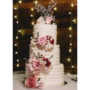 Facet Cake with floral