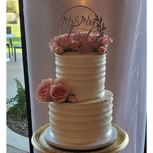 Two tier Facet Cake
