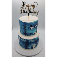 Load image into Gallery viewer, Happy Birthday Cake Topper on Custom Birthday Cake